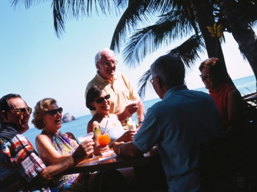 Middle-aged People on Vacation : Stock Photo