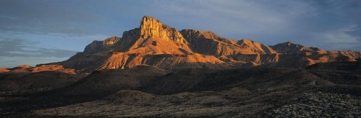 El Capatin, Guadalupe Mountains National Park, Texas, USA : Stock Photo
