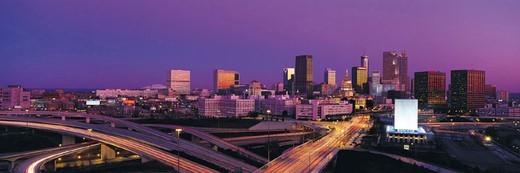Stock Photo: 1527R-248005 Atlanta in evening