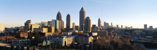 Stock Photo: 1527R-248034 View of Atlanta skyline, Georgia, USA