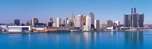 Detroit skyline : Stock Photo
