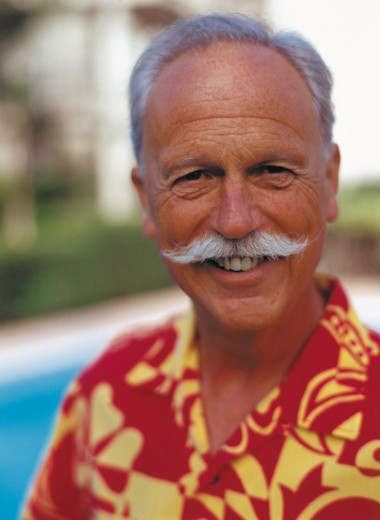 Portrait of a happy retiree : Stock Photo
