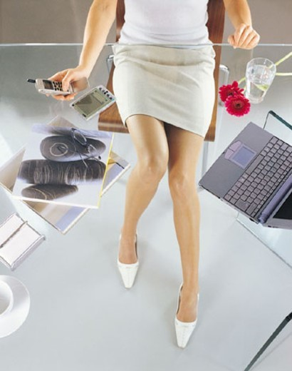 Low Section of a Businesswoman : Stock Photo