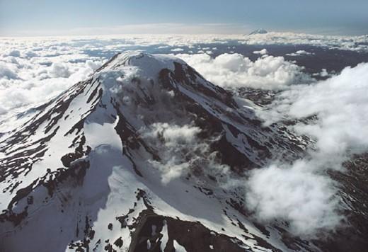 Mount Adams Volcano, Cascade Mountain Range, Washington, USA : Stock Photo