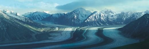 Kaskawulsh Glacier, Kluane National Park, Yukon, Canada : Stock Photo