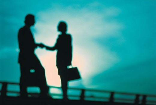 Stock Photo: 1527R-309093 Business People Shaking Hands