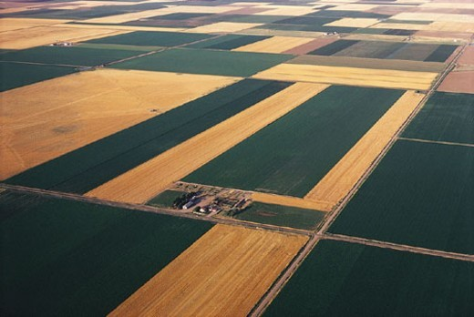 Stock Photo: 1527R-323017 Farmland, Kansas, USA