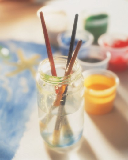 Child's Paint Supplies : Stock Photo