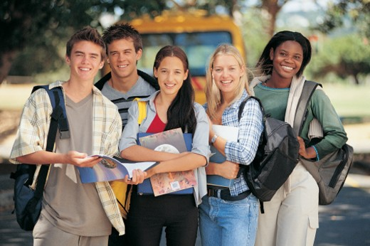 Group of Teenage Students : Stock Photo