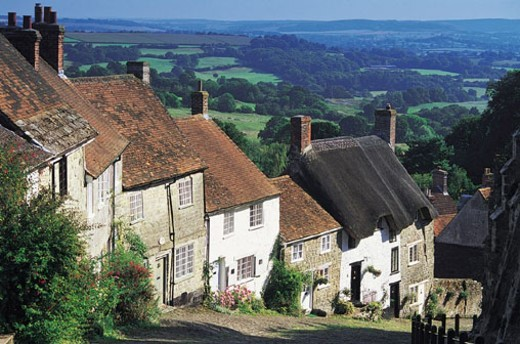 Golden Hill, Shaftesbury, England, UK : Stock Photo