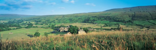 Stock Photo: 1527R-391024 Swaledale, Yorkshire, England, UK