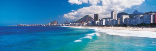 Leme and Copacabana beaches, Rio de Janeiro, Brazil : Stock Photo