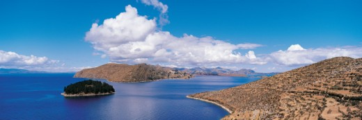 Stock Photo: 1527R-393063 Island of the Sun, Lake Titicaca, Bolivia