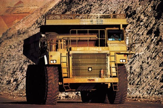 Dump Truck in Quarry : Stock Photo