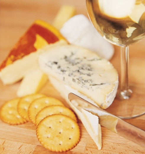 Cheese and Crackers : Stock Photo