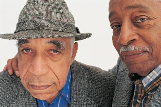 Stock Photo: 1527R-444009 Portrait of Two Elderly Men