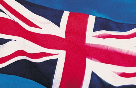 Stock Photo: 1527R-47046 Closeup of flag of United Kingdom