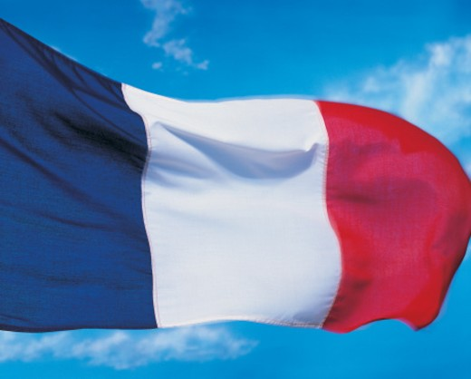 Closeup of flag of France : Stock Photo
