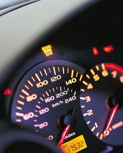 Stock Photo: 1527R-545082 Close up of a Car's Dashboard