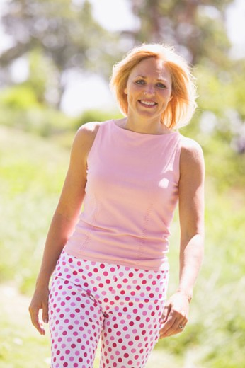 Stock Photo: 1530R-25055 Portrait of a healthy middle-aged woman