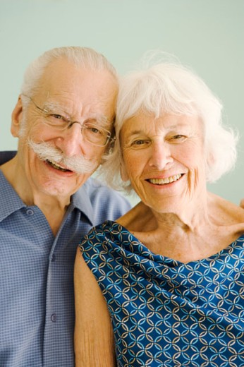 Stock Photo: 1530R-35342 Portrait of affectionate senior couple