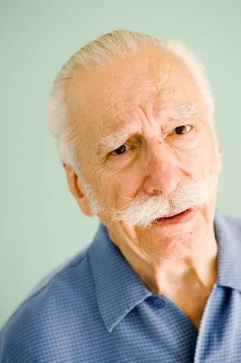 Portrait of concerned older man : Stock Photo
