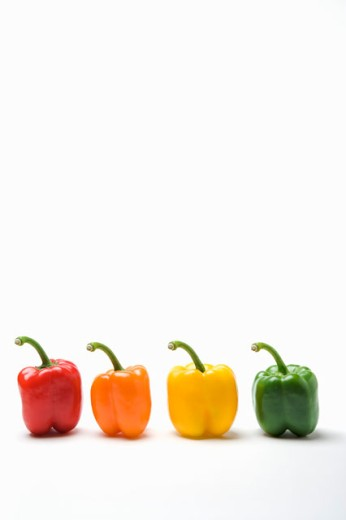 Stock Photo: 1530R-36317 Multicolored sweet bell peppers