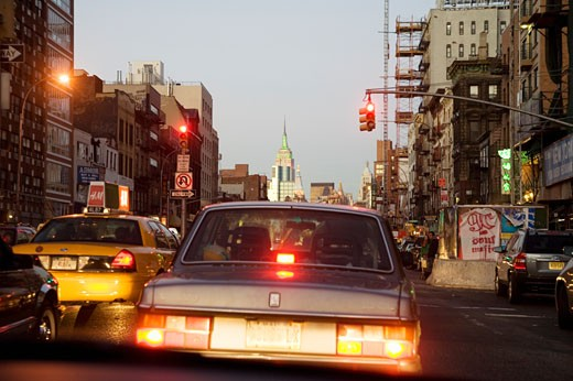 Stock Photo: 1530R-38150 Cars in traffic, New York City