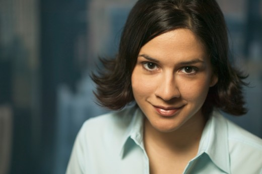 Stock Photo: 1530R-4035 Portrait of a young career woman.
