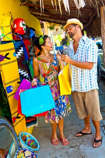 couple shopping in mexico : Stock Photo