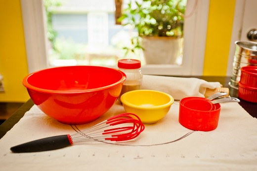 Stock Photo: 1530R-41676 Kitchen tools ready for baking,