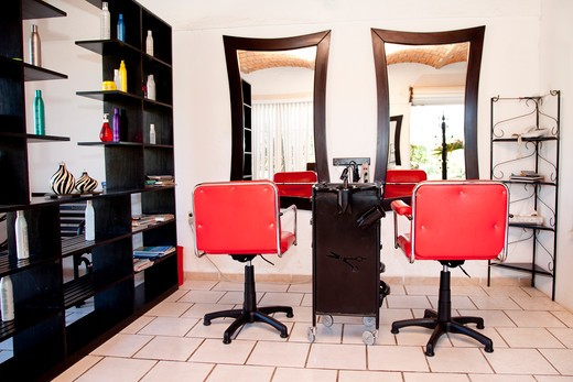 Stock Photo: 1530R-42003 Beauty salon interior,  Sayulita, Mexico