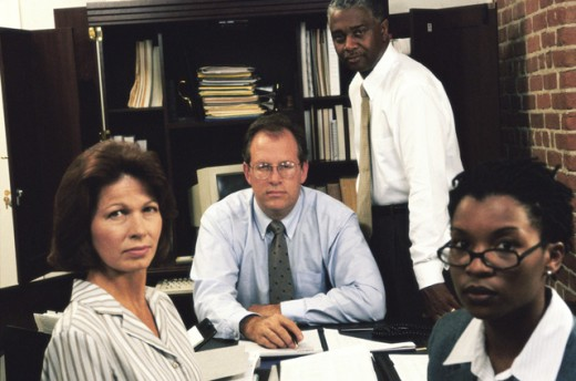 Stock Photo: 1531R-426 Portrait of business executives in an office