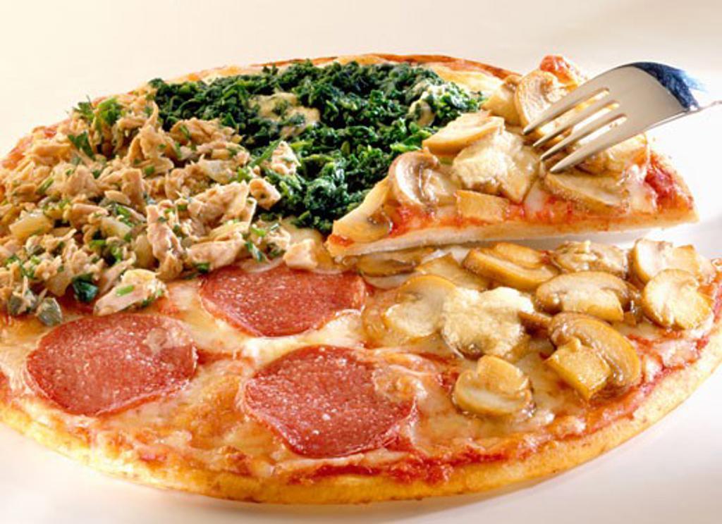 Four seasons pizza : Stock Photo