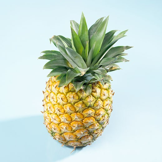 A pineapple from above : Stock Photo