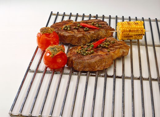 Grilled Pork Cutlets : Stock Photo