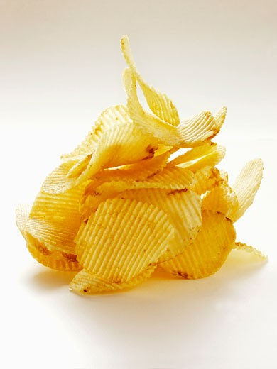 Ruffled Potato Chips : Stock Photo