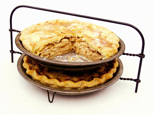 Two Apple Pies on Rack : Stock Photo