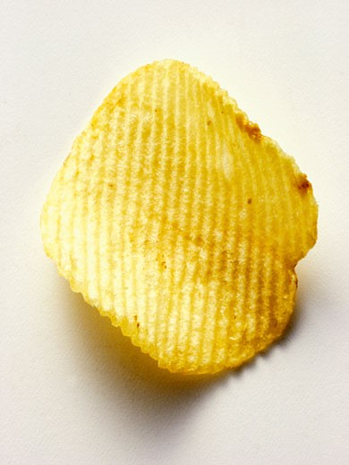 Stock Photo: 1532R-13929 One Potato Chip