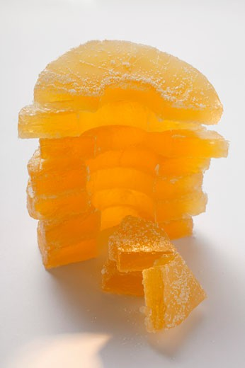 Candied pineapple pieces : Stock Photo