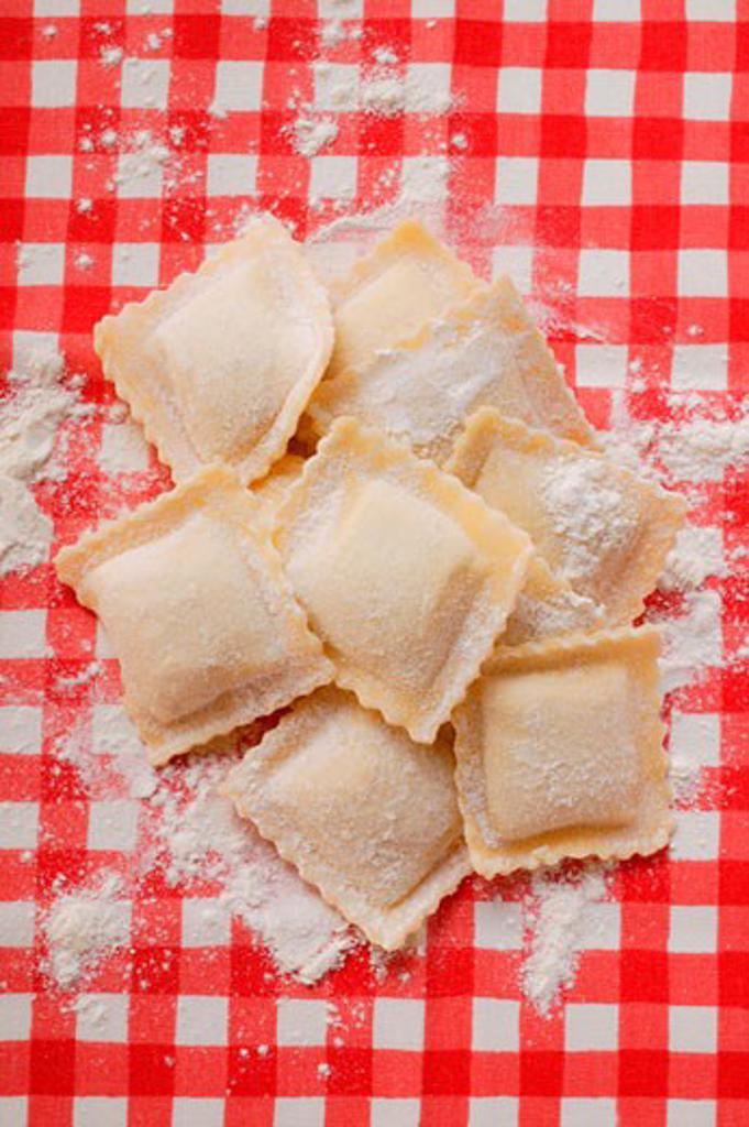 Home-made ravioli : Stock Photo