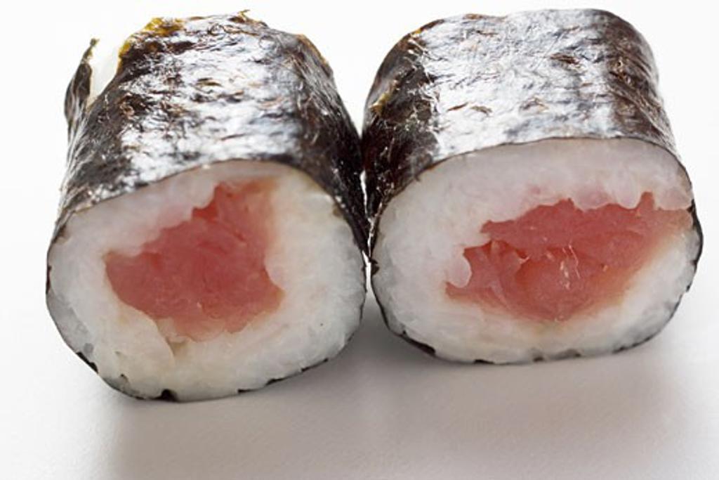 Two maki sushi with tuna : Stock Photo