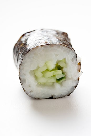Maki sushi with cucumber : Stock Photo