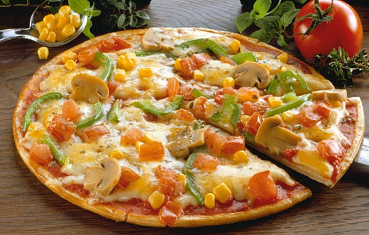 Vegetarian pizza : Stock Photo