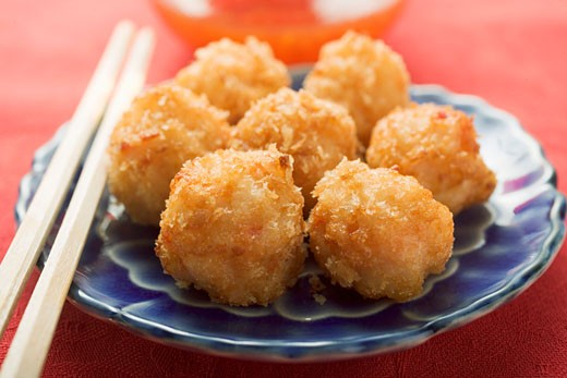 Breaded shrimp balls (Asia) : Stock Photo