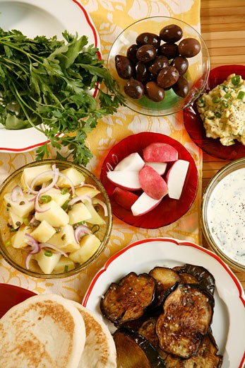 Stock Photo: 1532R-22924 Mediterranean appetisers