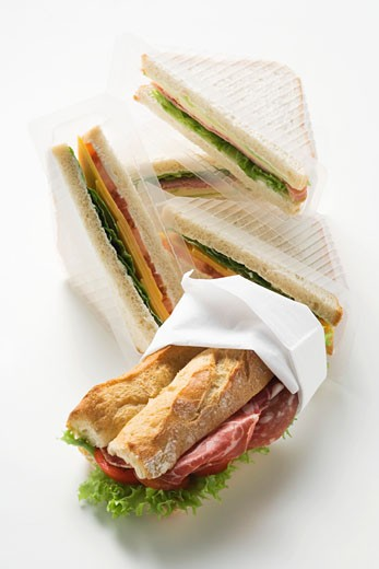 Ham sandwiches : Stock Photo