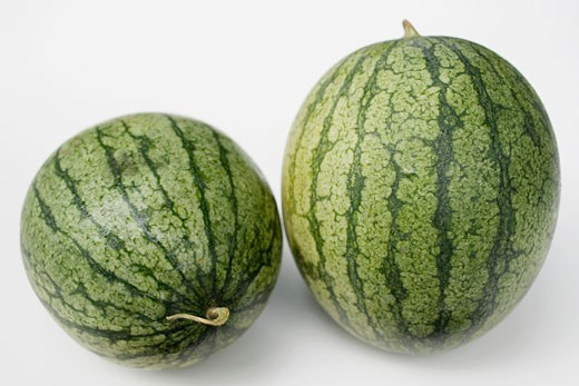 Two watermelons : Stock Photo
