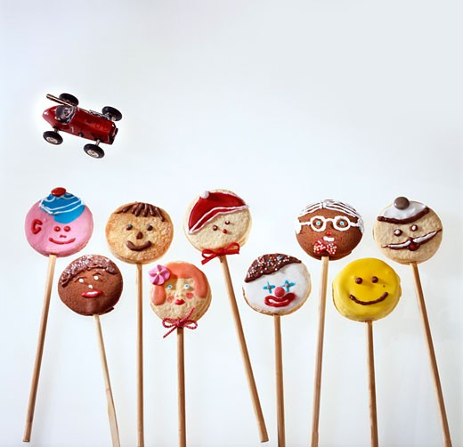 Home-made lollipop biscuits : Stock Photo