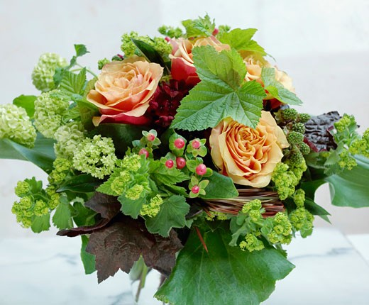 Stock Photo: 1532R-31225 Mixed arrangement with roses